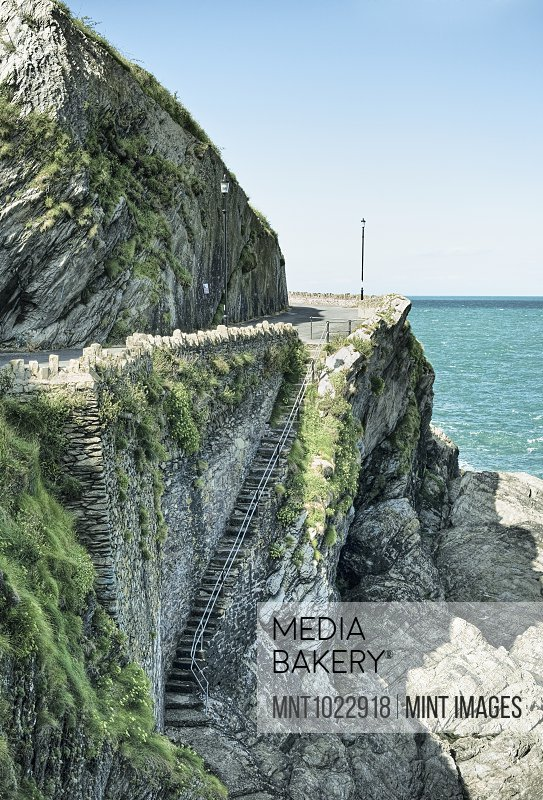 Steps Built into Ocean Cliff