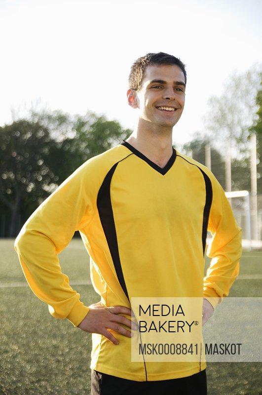 Happy guy in yellow