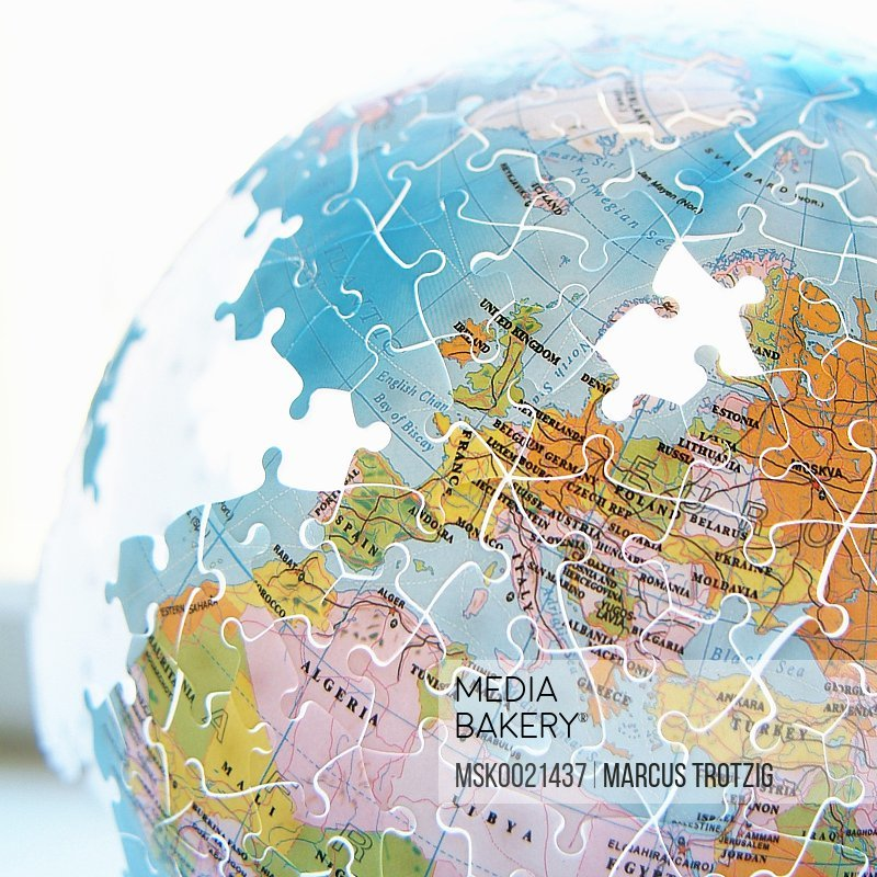 Globe with Sweden missing