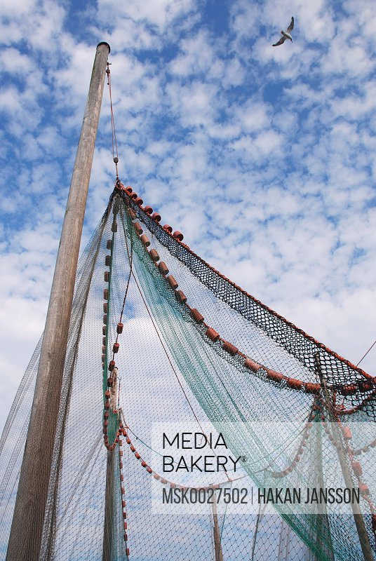 Low angle view of fishing net