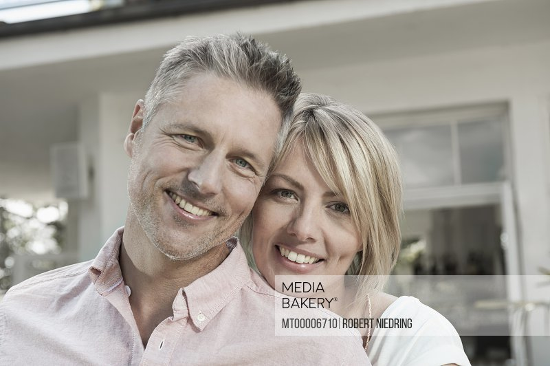 Mature middle aged couple wellbeing happy portrait