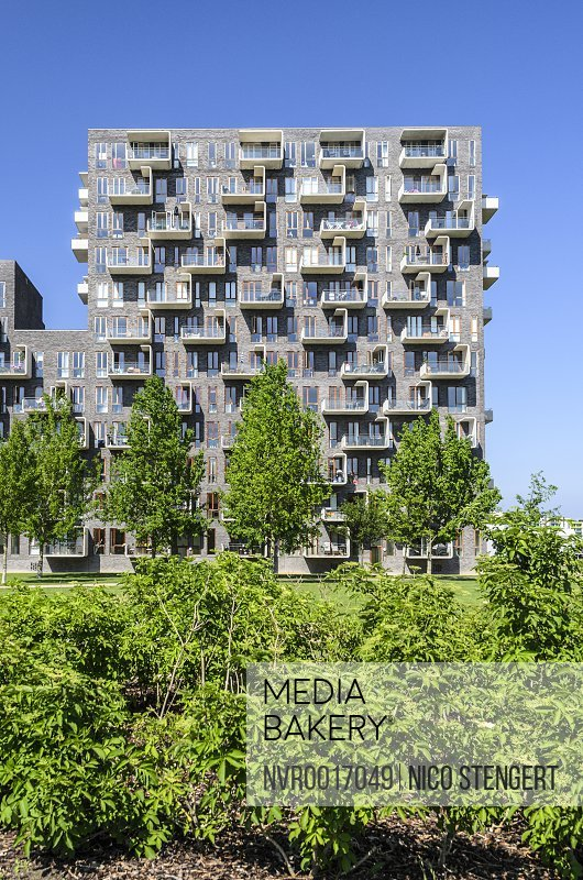 Modern Apartment House Designed By Lundgaard Tranberg Architects District Oerestad Amager