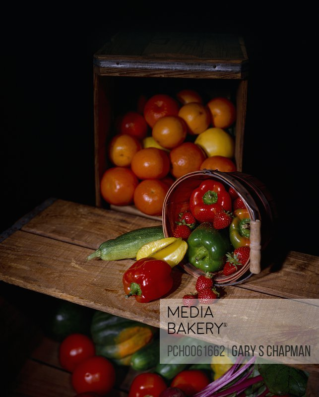 Fresh produce in crates