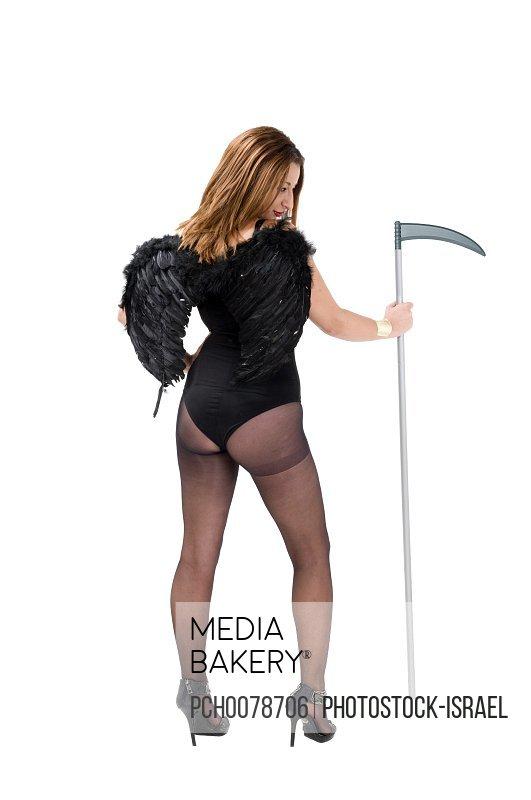 Sexy female grim reaper