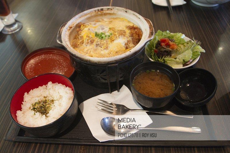 Katsudon platter