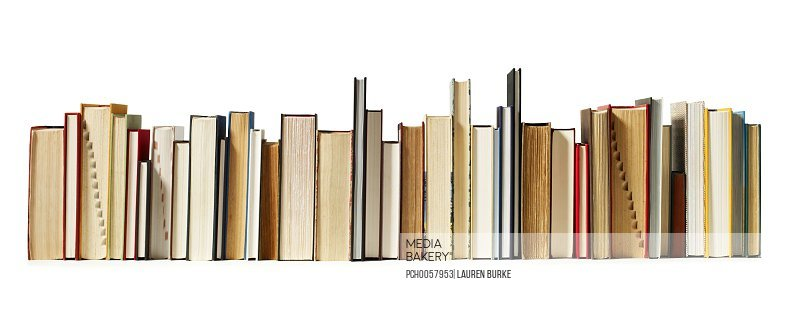 Horizontal row of books