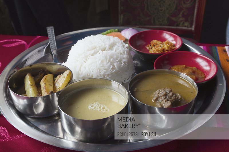 Nepalese curry platter