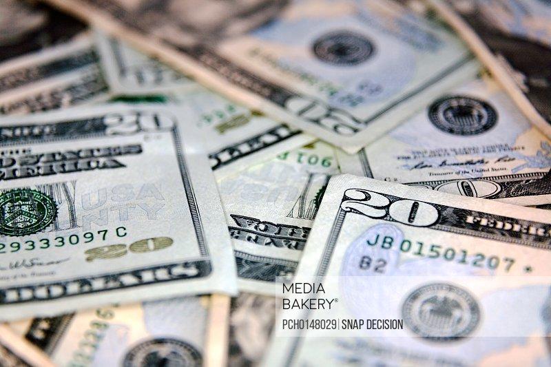 US twenty dollar bank note
