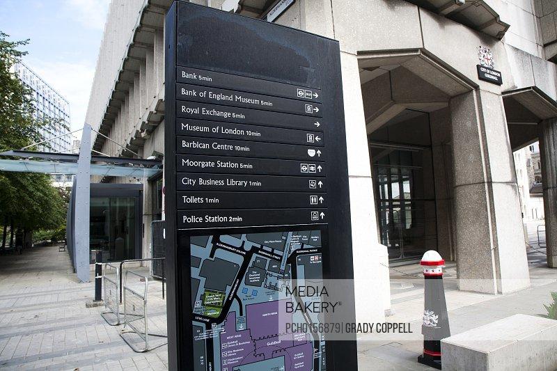 Street direction board London UK