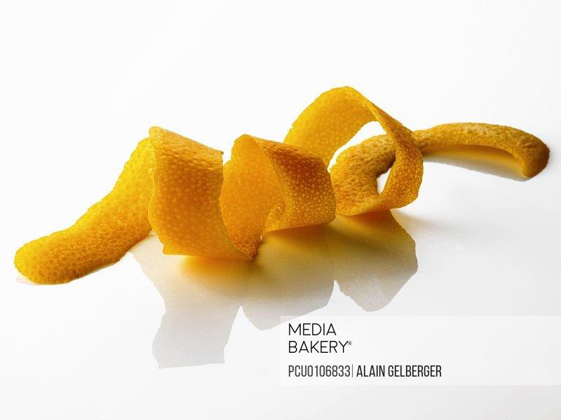 Cut-out orange zests