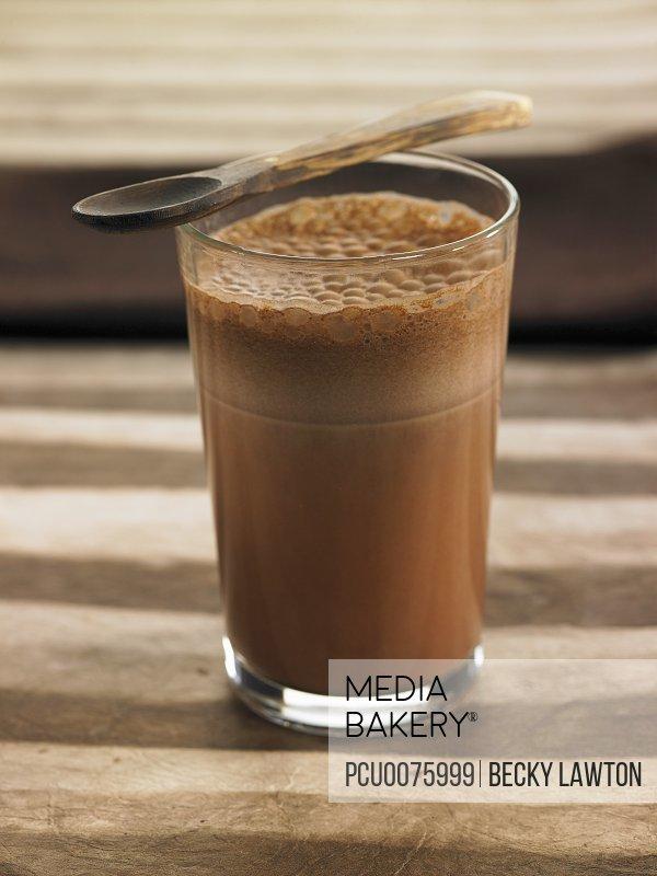 Soya and cocoa milk shake