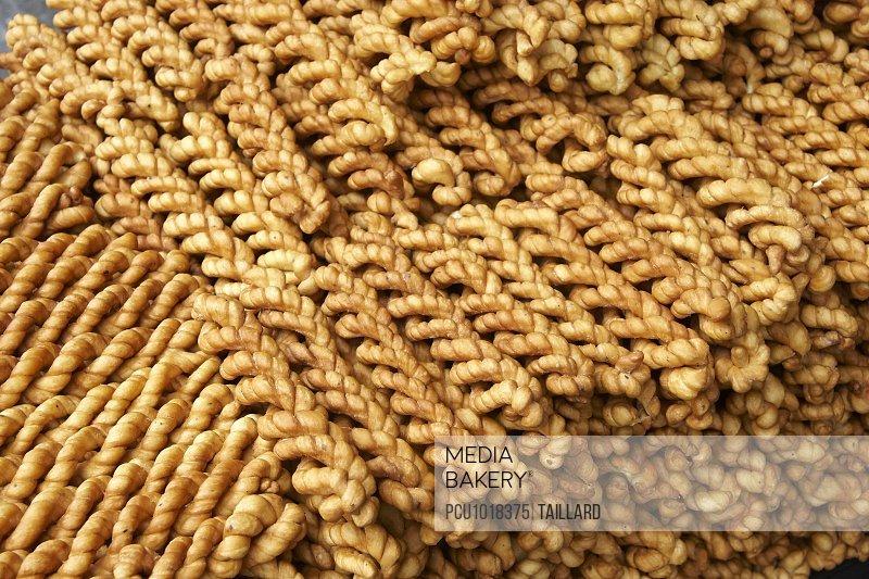 Chinese flaky pastry braids
