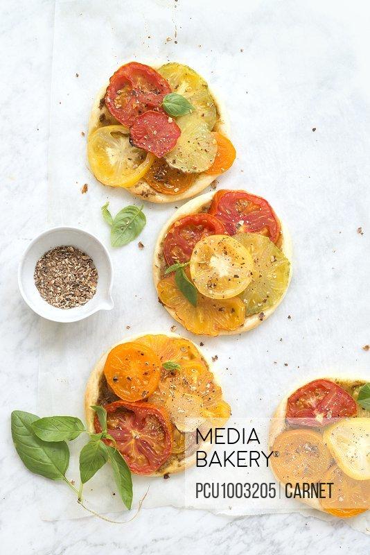 Thin tomato tarts