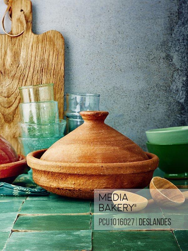 Earthenware Tajine dish
