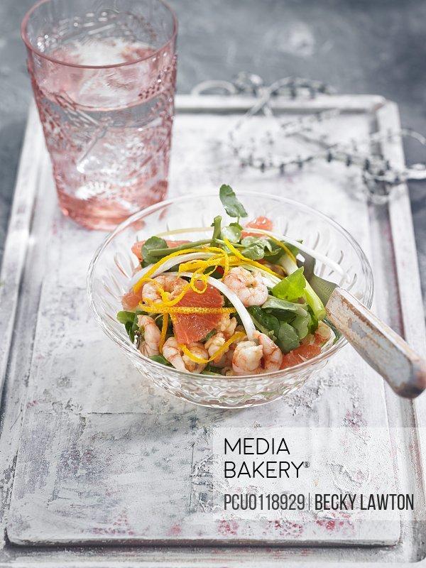 Shrimp and grapefruit cocktail