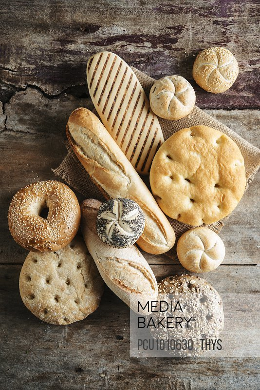 Selection of breads from all around the world