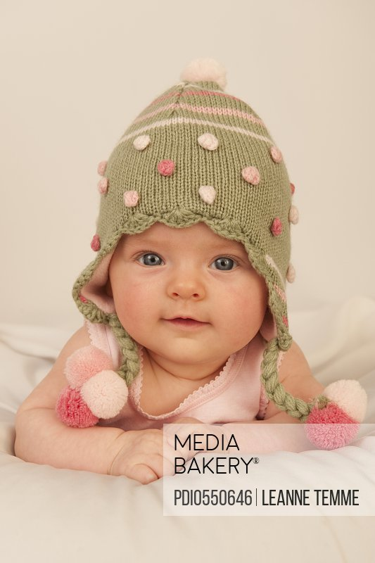 fea66a7df Photo by Photoplay - 3 month baby girl in beanie