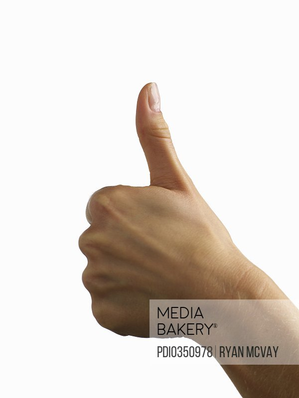 Mediabakery Photo By Photoplay Hand Giving Thumbs Up Symbol