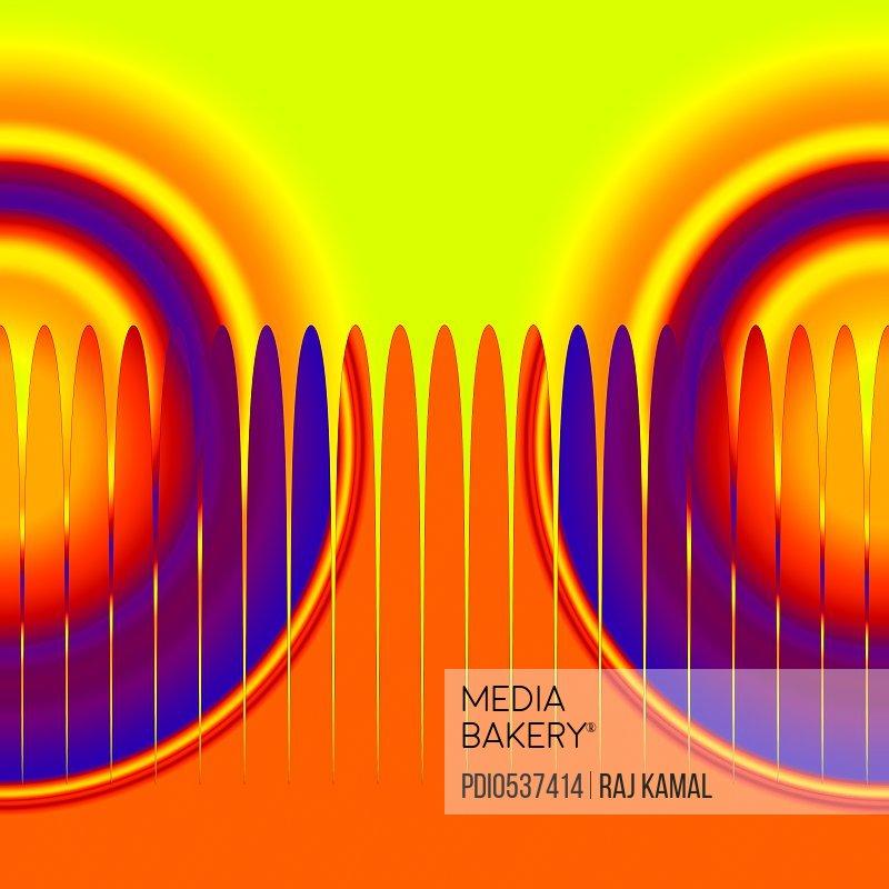 Horizontal Shapes Creative Abstract Design