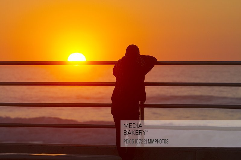 Sunset Contemplation Pacifica California USA