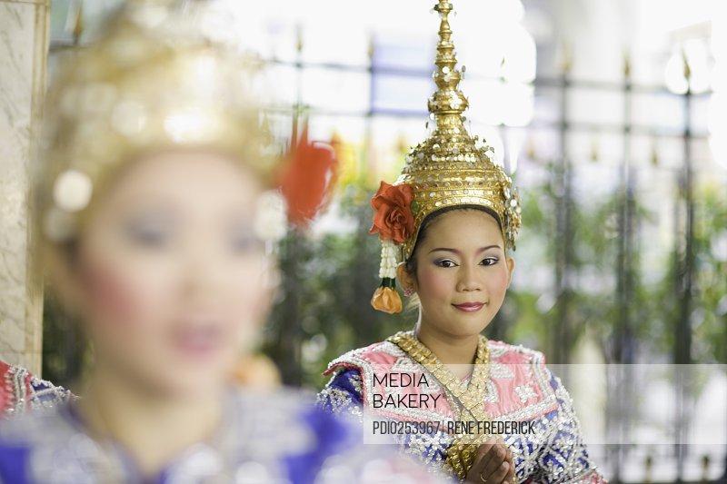 Traditional Thai Dancer performing near Erawan Shrine