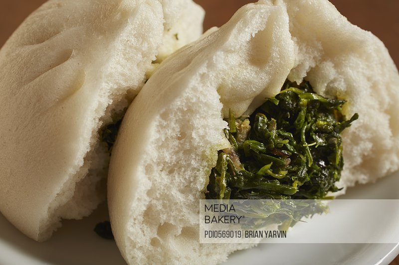 Chinese steamed vegetable bun
