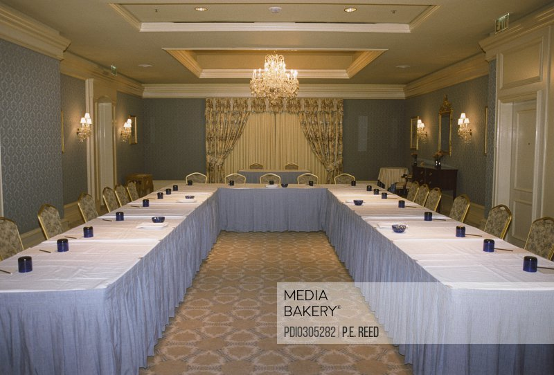 Conference Table in Ballroom