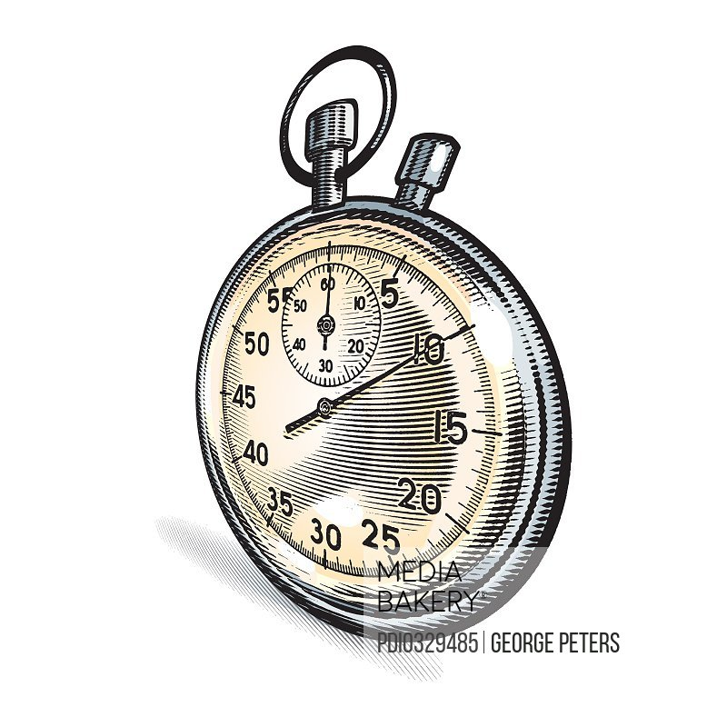 Stopwatch with Exaggerated Perspective