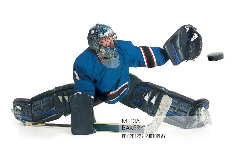 Mediabakery Photo By Photoplay A Caucasian Male Hockey Goalie In