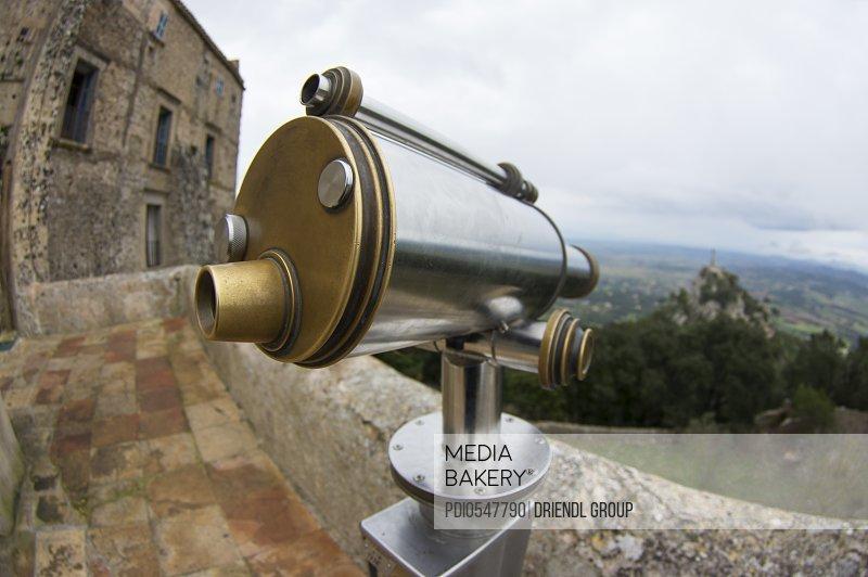 Viewing telescope at Sactuary San Salvadore