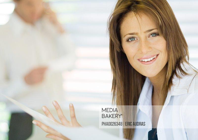 Career woman in agency