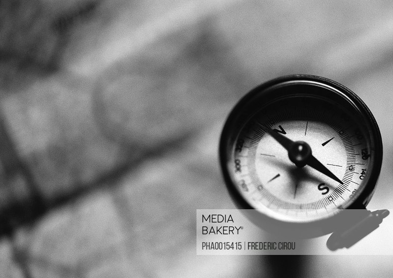 Compass, b&w.