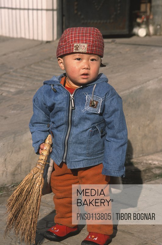 China, Hebei, Chengde, little boy,