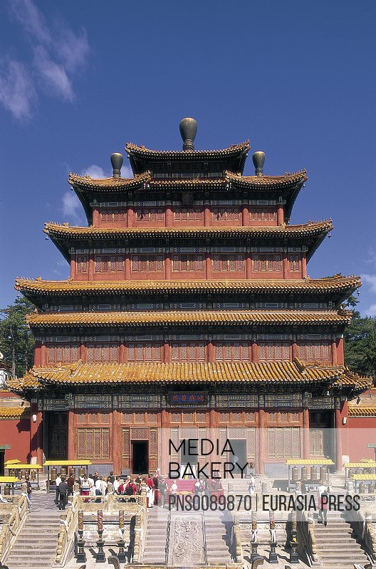 China, Hebei Province, Chengde, Temple of Universal Peace, 1755