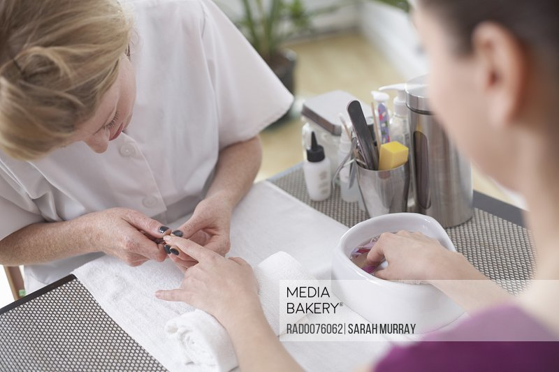 Woman Getting a Manicure, Vancouver, British Columbia, Canada