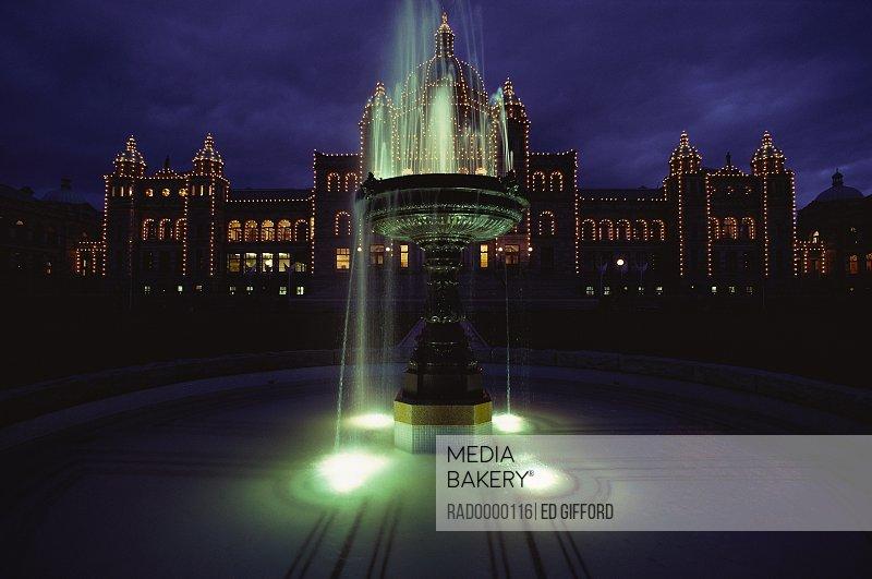 Photo By Radius Images Parliament Building Victoria British Columbia Canada