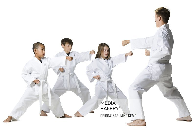 youth practicing martial arts