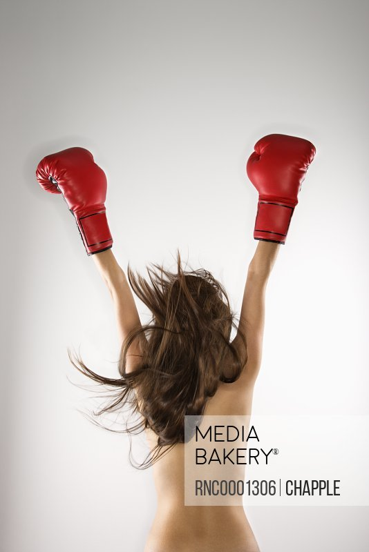 Topless Girl With Boxing Gloves Stock Photos And Images