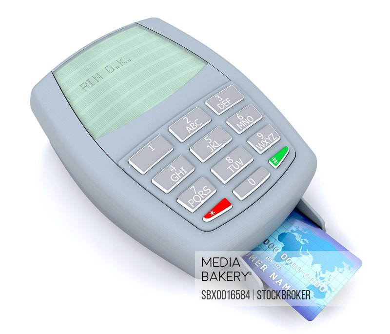 3d render of a credit card transaction pin approval