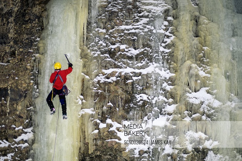 Ice climbing in Maple Canyon in central Utah.