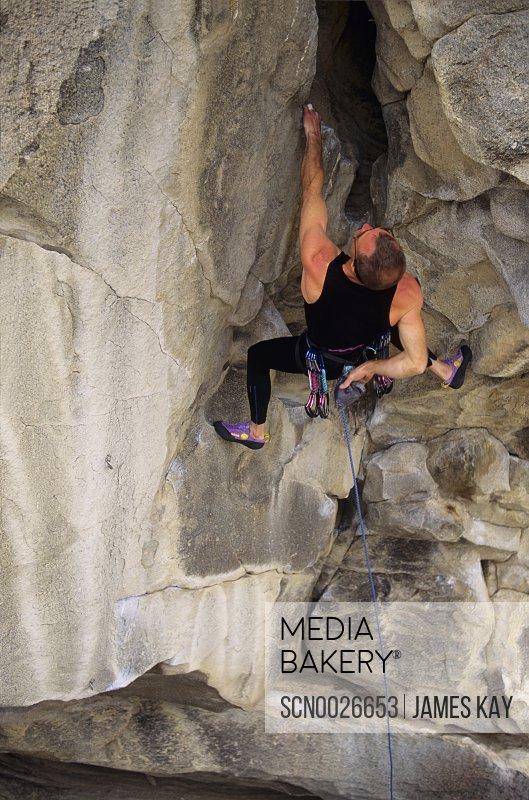 Rock climbing at City of Rocks, Idaho.