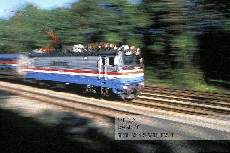 Blurred train