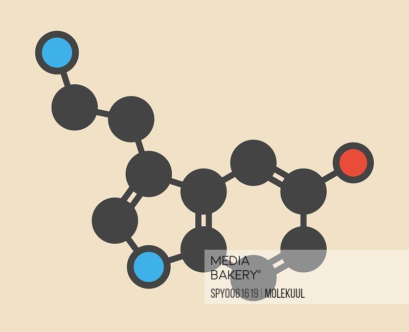 Serotonin neurotransmitter molecule
