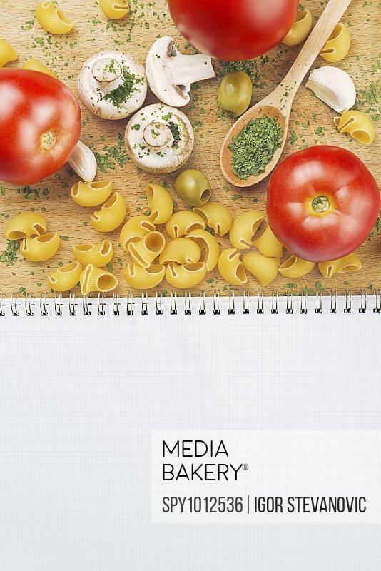 Ingredients for pasta dish.