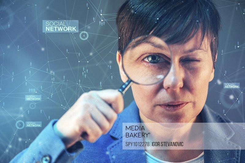 Social network expert performing analysis, conceptual image.