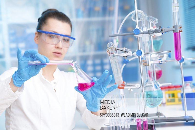 Scientist doing experiment