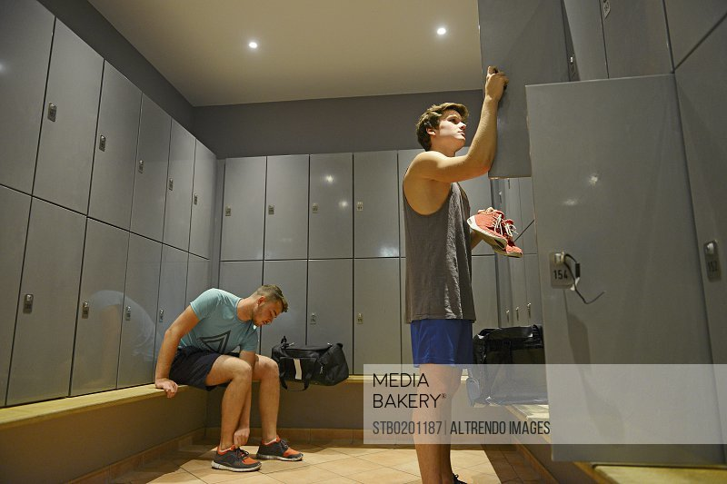 Mediabakery photo by stoked teenage boys getting ready in gym