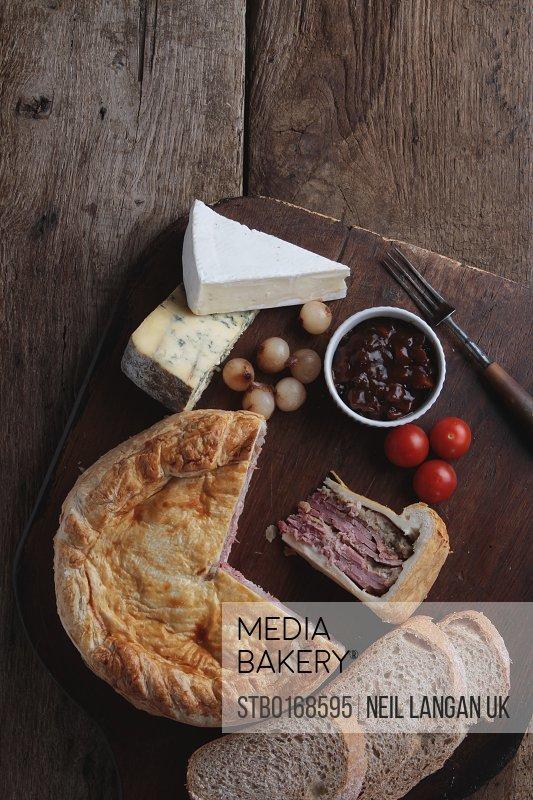 pork picnic pie ploughmans platter