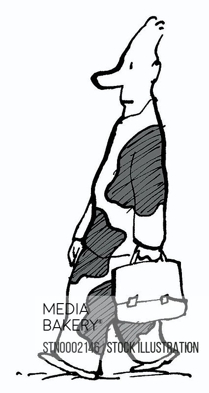 Man carrying suitcase