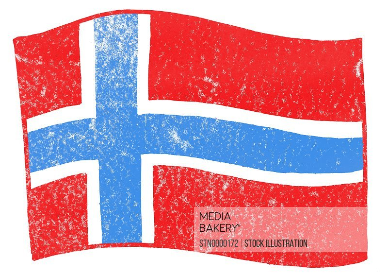 View of norwegian flag